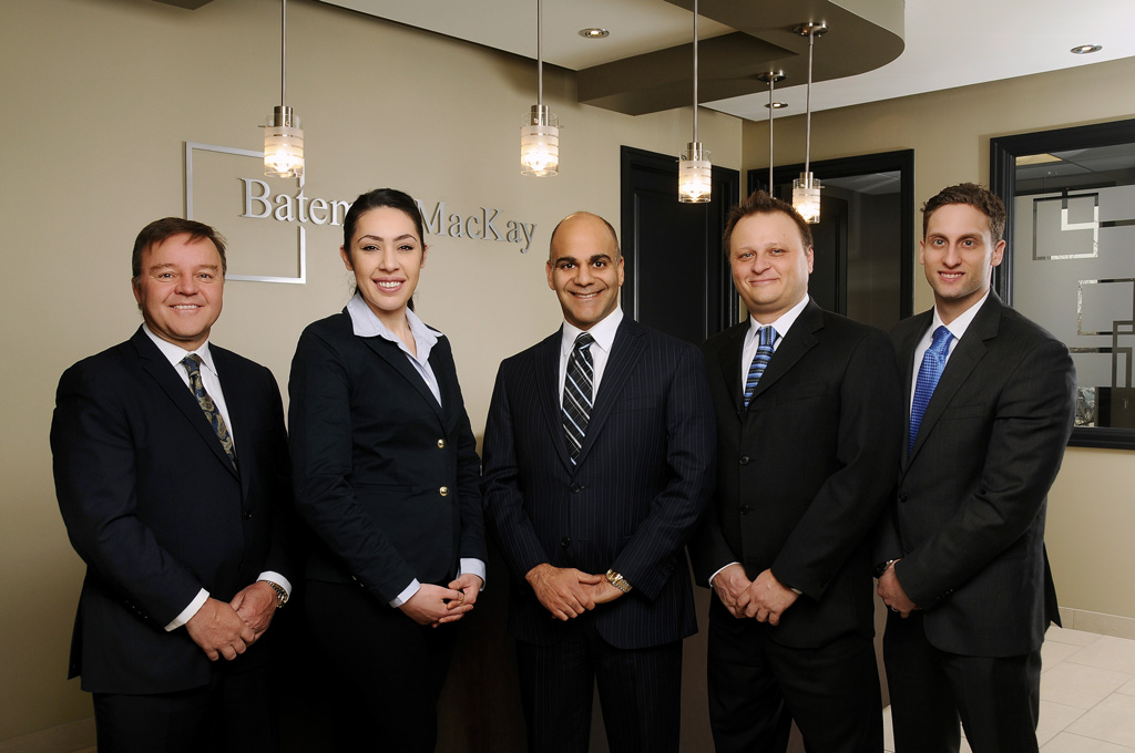 From left to right: John Doma, Yasmin Fathallah, Vinay Khosla, Richard Rizzo, Daniel Simone at Bateman MackKay office on April 2015