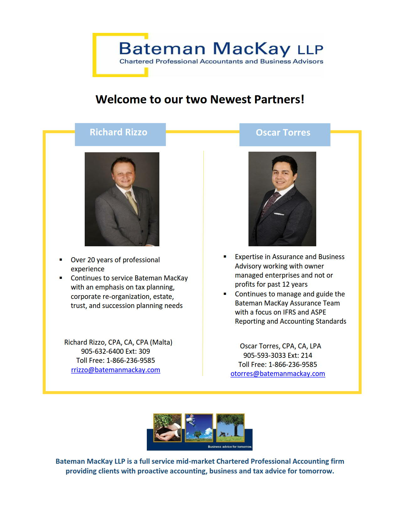 Welcome to our Two Newest Partners!