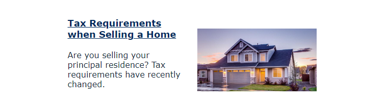 Tax Requirements when selling a home blog preview