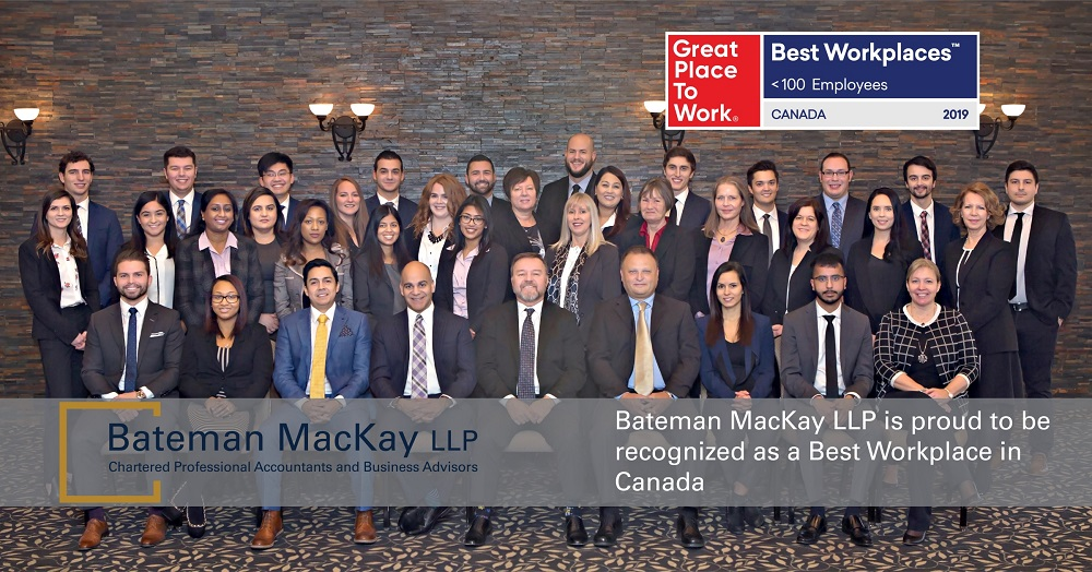 Bateman MacKay LLP Recognized as a Best Workplace in Canada