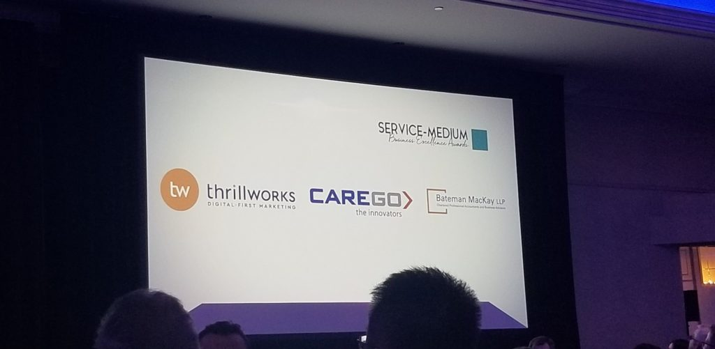 Nomination screen with Thrillworks, Carego and Bateman MacKay logos