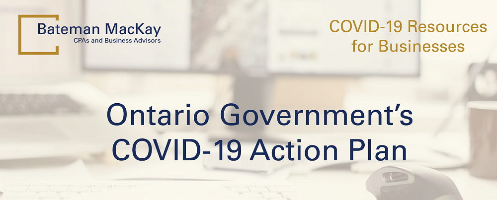 Ontario Government's COVID-19 Action Plan