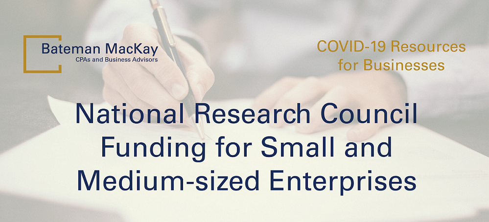 National Research Council Funding for Small and Medium-sized Enterprises