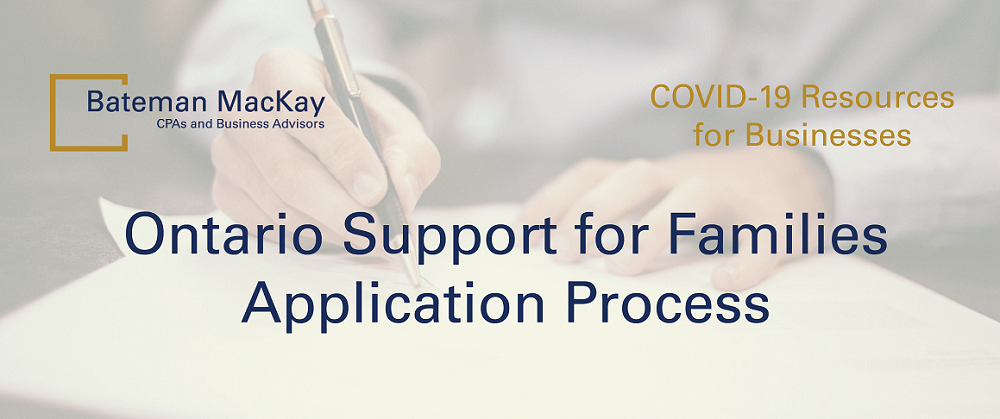 Ontario Support for Families Application Process