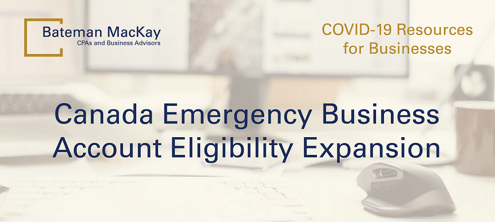 Canada Emergency Business Account Eligibility Expansion