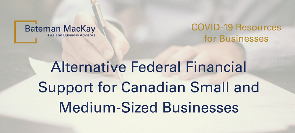 Alternative Federal Financial Support for Canadian Small-and-Medium-Sized Businesses