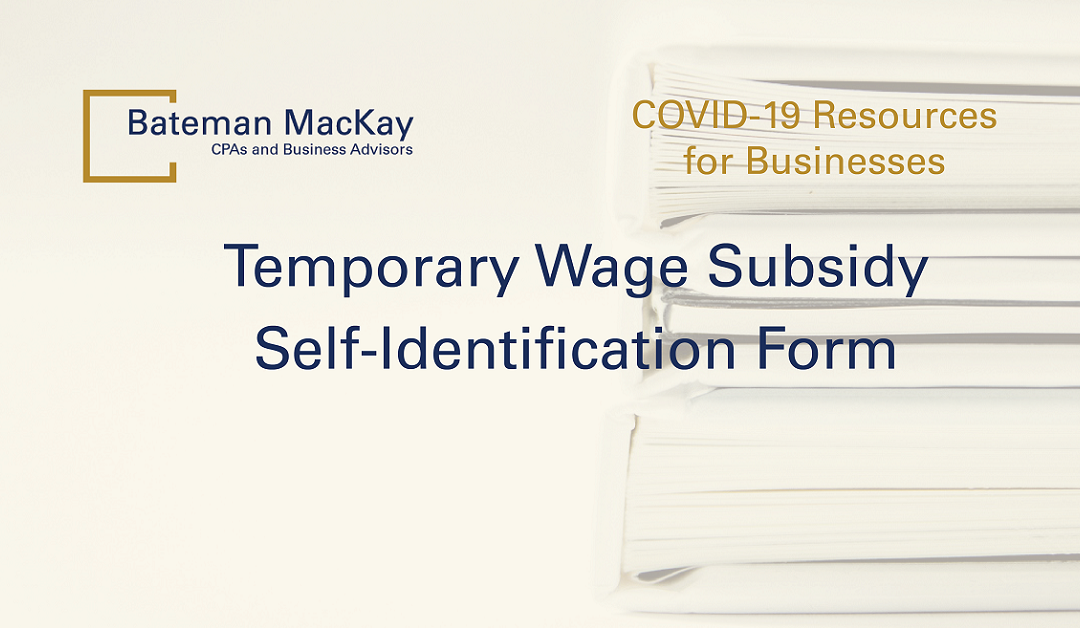 Temporary Wage Subsidy Self-Identification Form